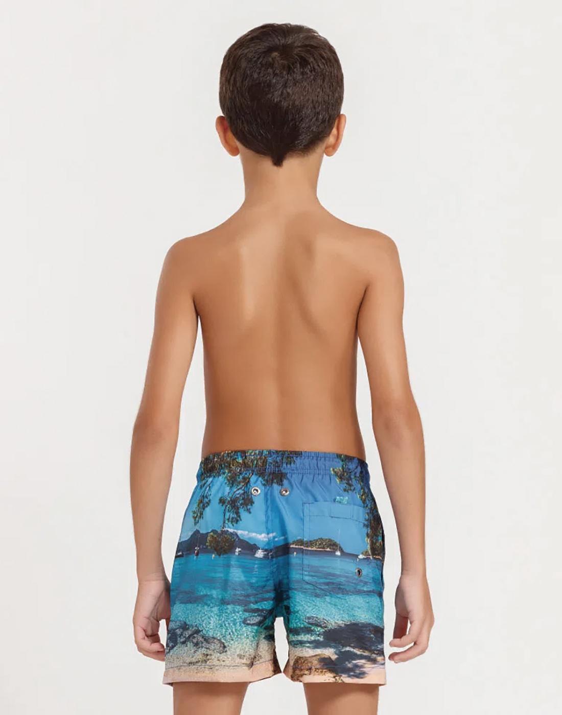 Shorts Estampa Paisagens Infantil FPS 30 Mash
