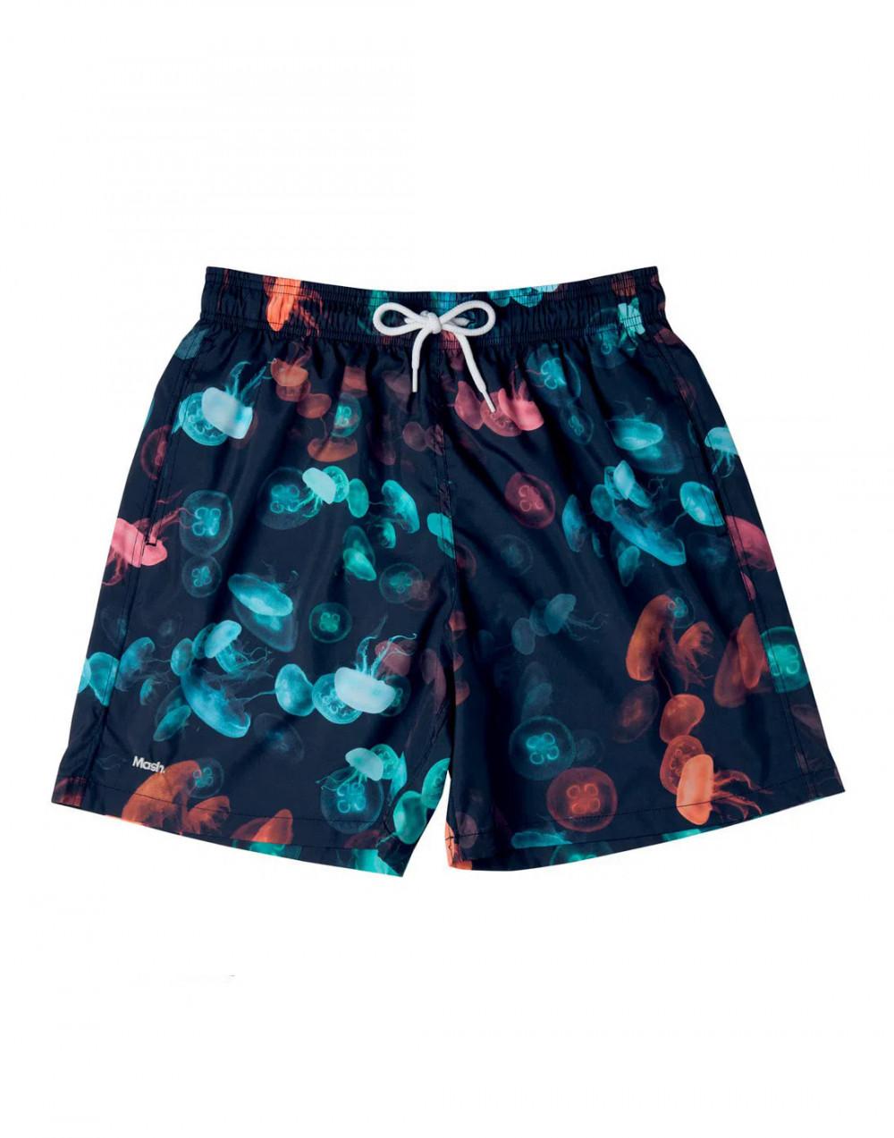 Shorts Estampado Água Viva e Corais FPS 30 Mash