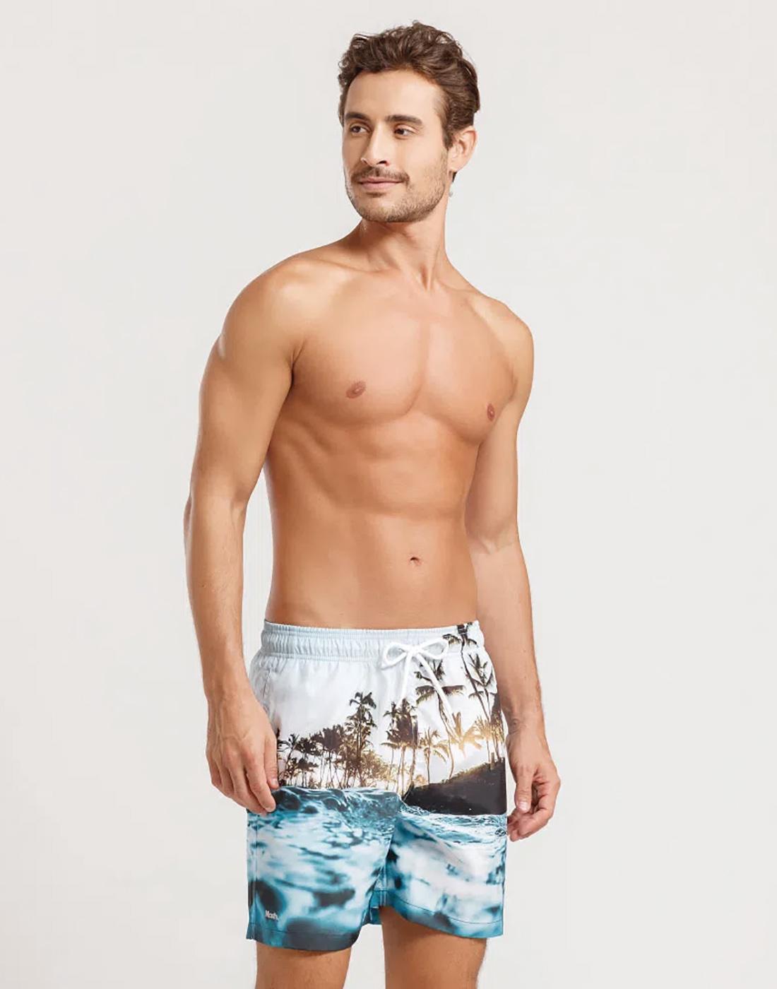 Shorts Estampado Praia FPS 30 Masculino Mash