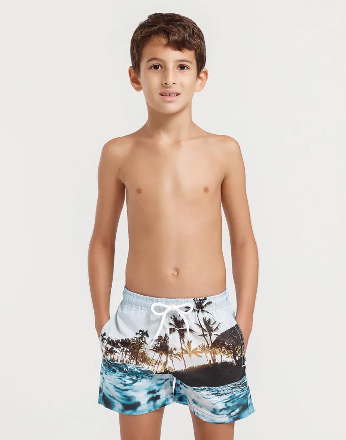 Shorts Estampado Praia Infantil FPS 30 Mash