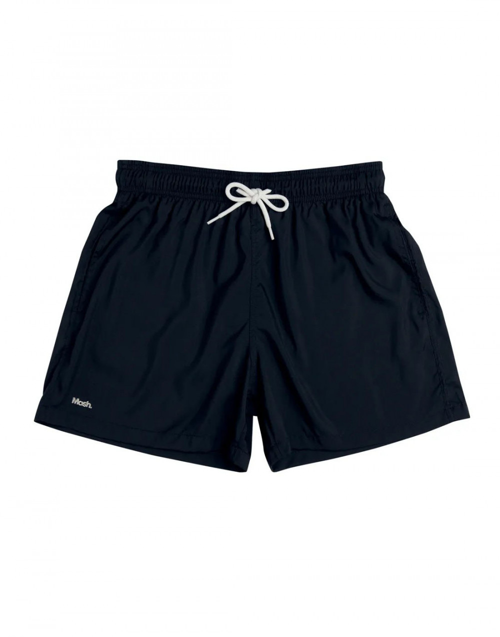 Shorts Praia Curto Liso Preto Mash