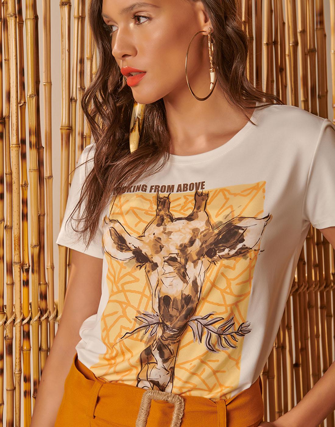 T-Shirt Fem. Estampada  Six One