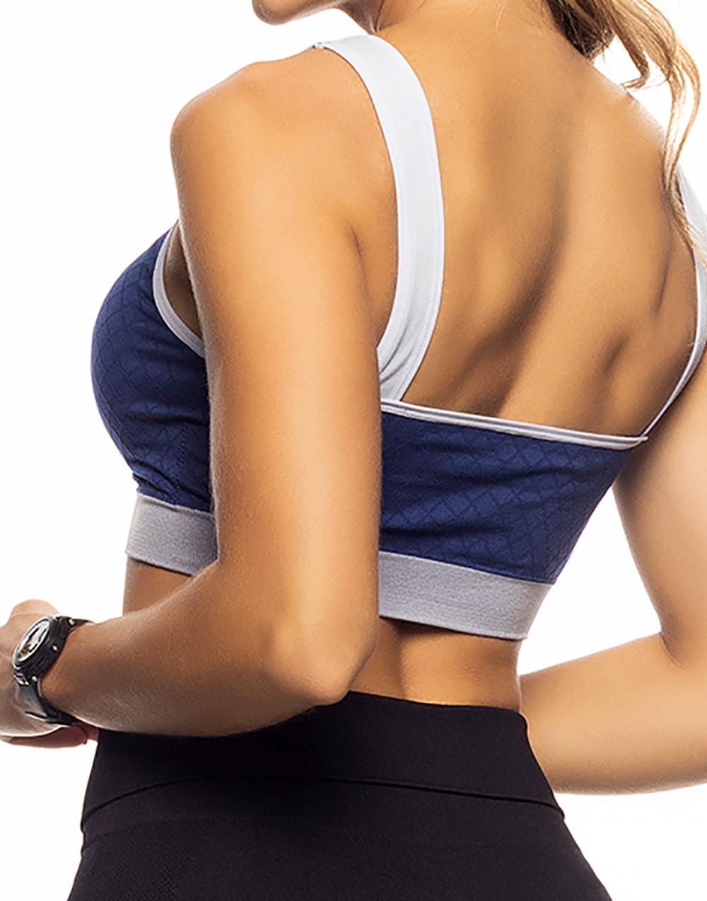 Top Fitness Bojo Removível Sem Costura Zee Rucci