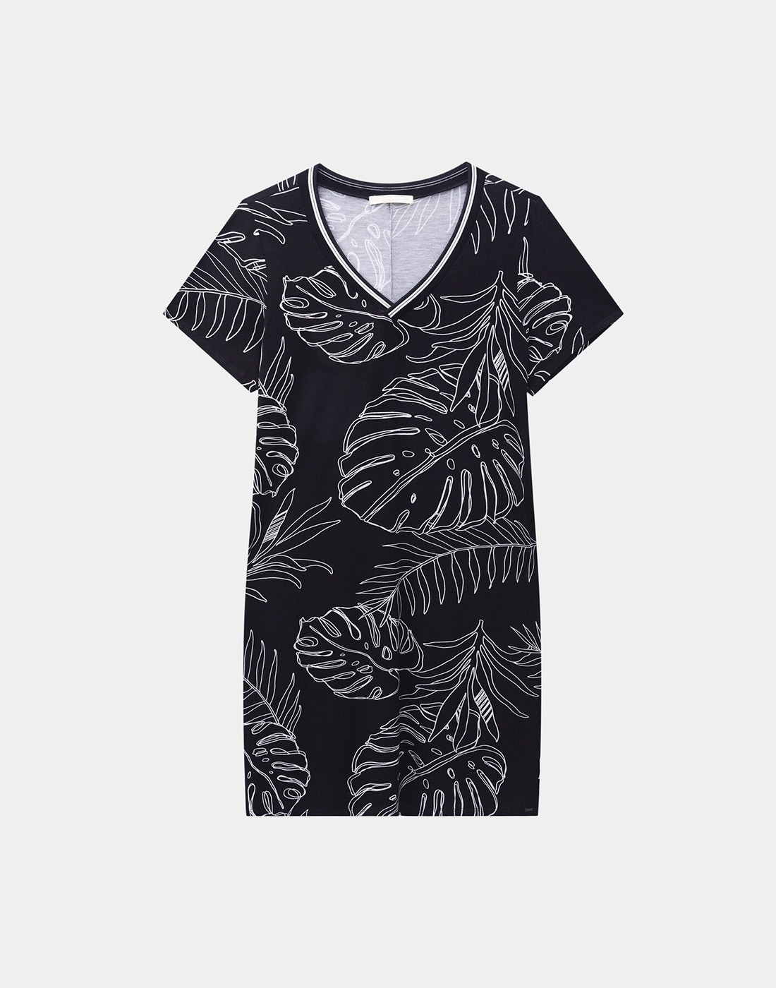 Vestido Decote V Plus Size Malha Viscose Preto Reativo Lunender Mais Mulher
