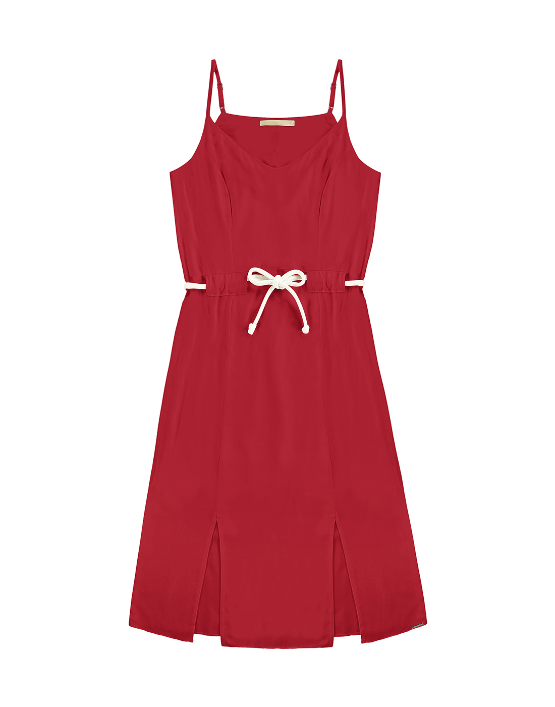 Vestido em Tecido Rayon Vermelho Nobre - Lunender