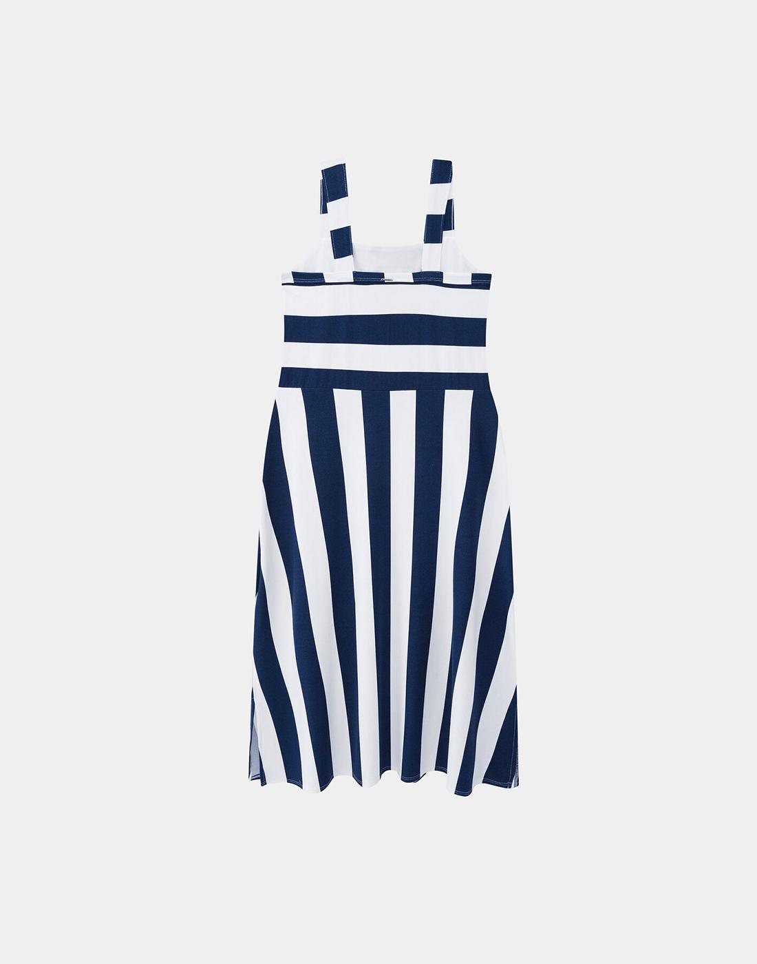Vestido Midi Malha Crepe Marinho Soft Navy Lunender
