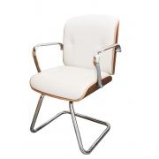 Cadeira Diretor Fixa Eames Office Vinil