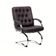 Cadeira Diretor Office Cromada em Capitonê Onix