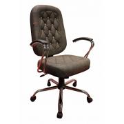 Cadeira Presidente cromada com Capitonê Elegance Lux
