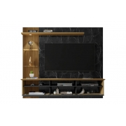 Painel com Led para TV até 60 Polegadas  Cinamomo/Preto Fosco/Nero Trend