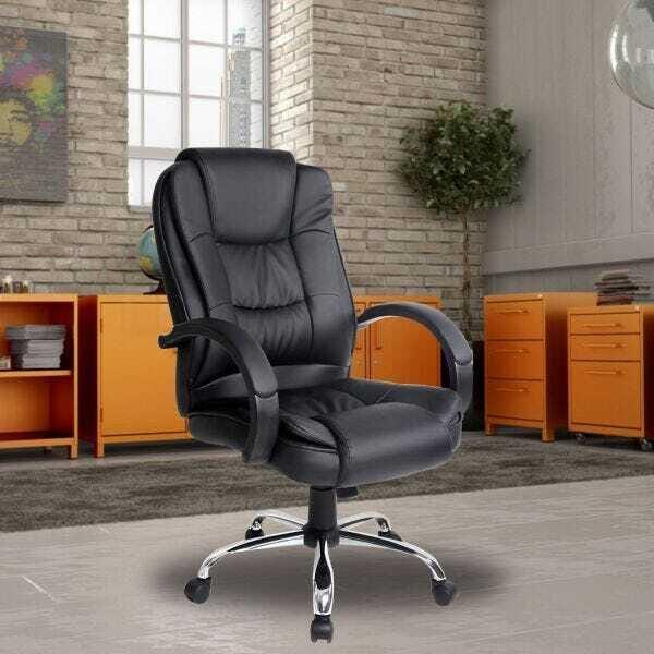 Cadeira Base Giratória Relax Confort - Preta