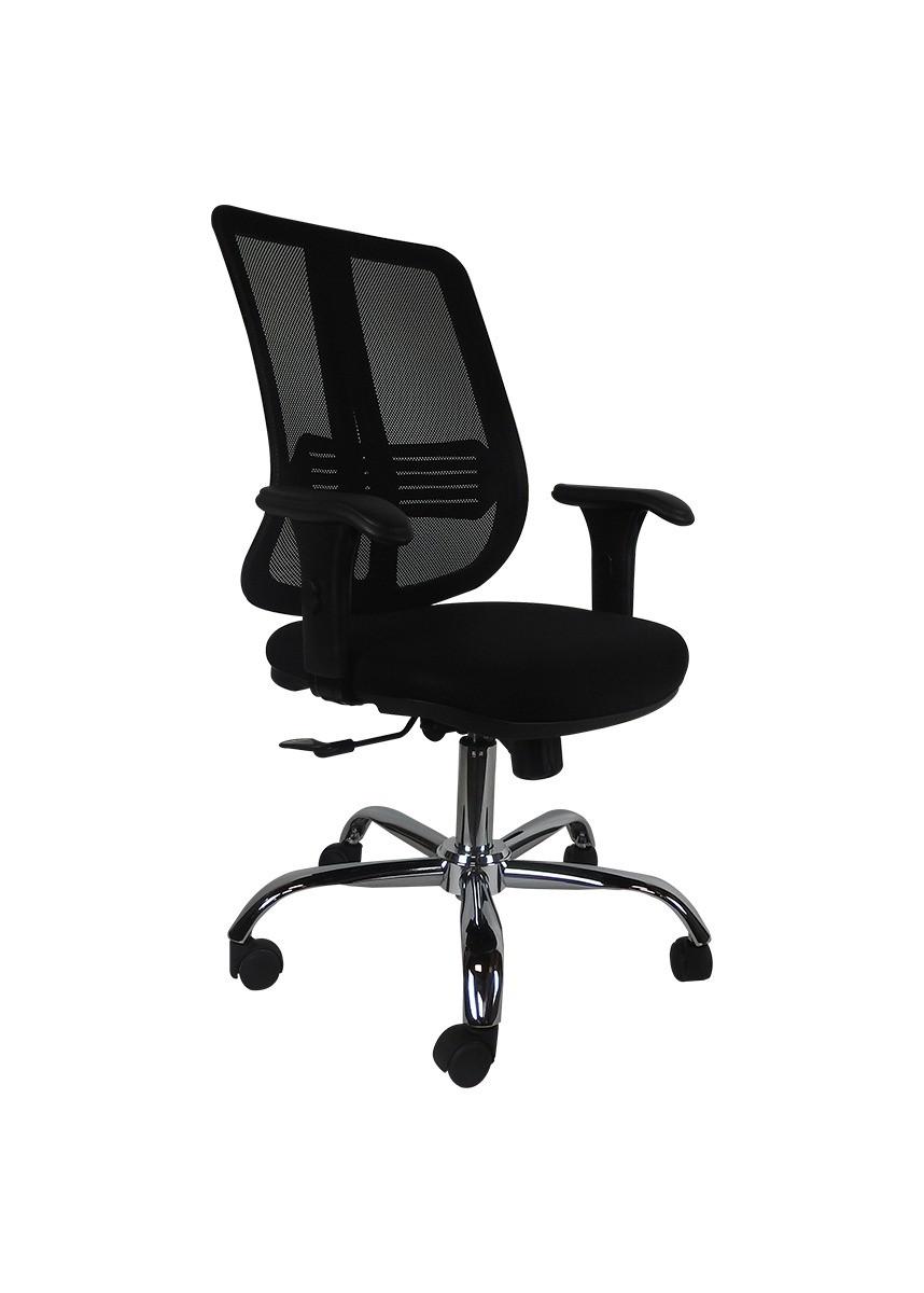 Cadeira Diretor Ergonômica Base Giratória Cromada Tela Mesh New Pr