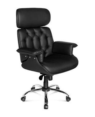 Cadeira Presidente Cromada Premium