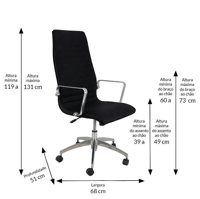 Cadeira Presidente Inspired Eames