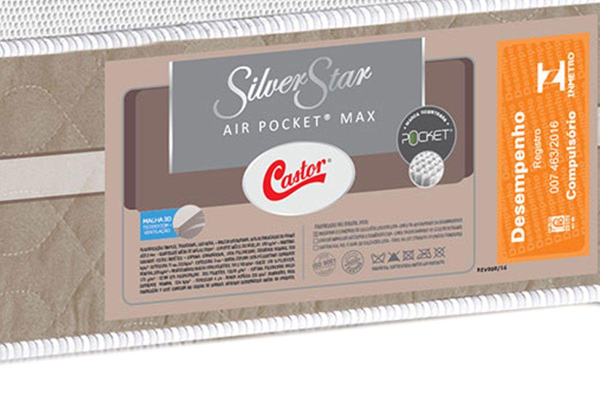 Colchão Castor Molas Pocket Silver Star Air Max 3D