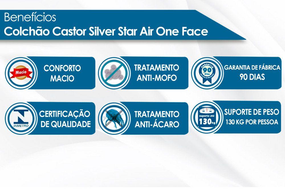 Colchão Castor Molas Pocket Silver Star Air O.F