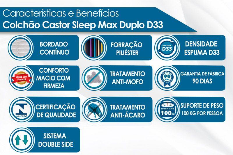 Colchão de Espuma D33 Sleep Max 18 Castor