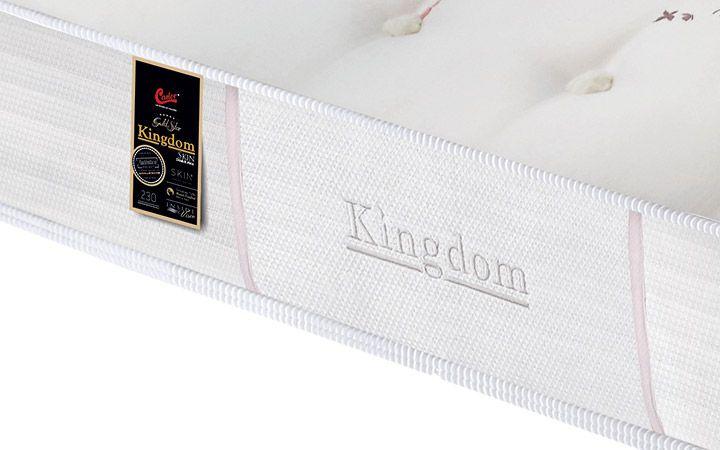 Colchão de Molas Pocket Kingdom Skin Double Face King Castor