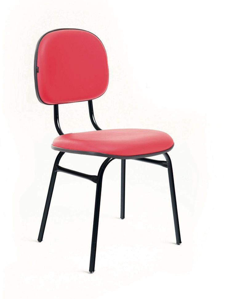 Conjunto de 6 cadeiras  Secretaria de Couro Ecológico Classic