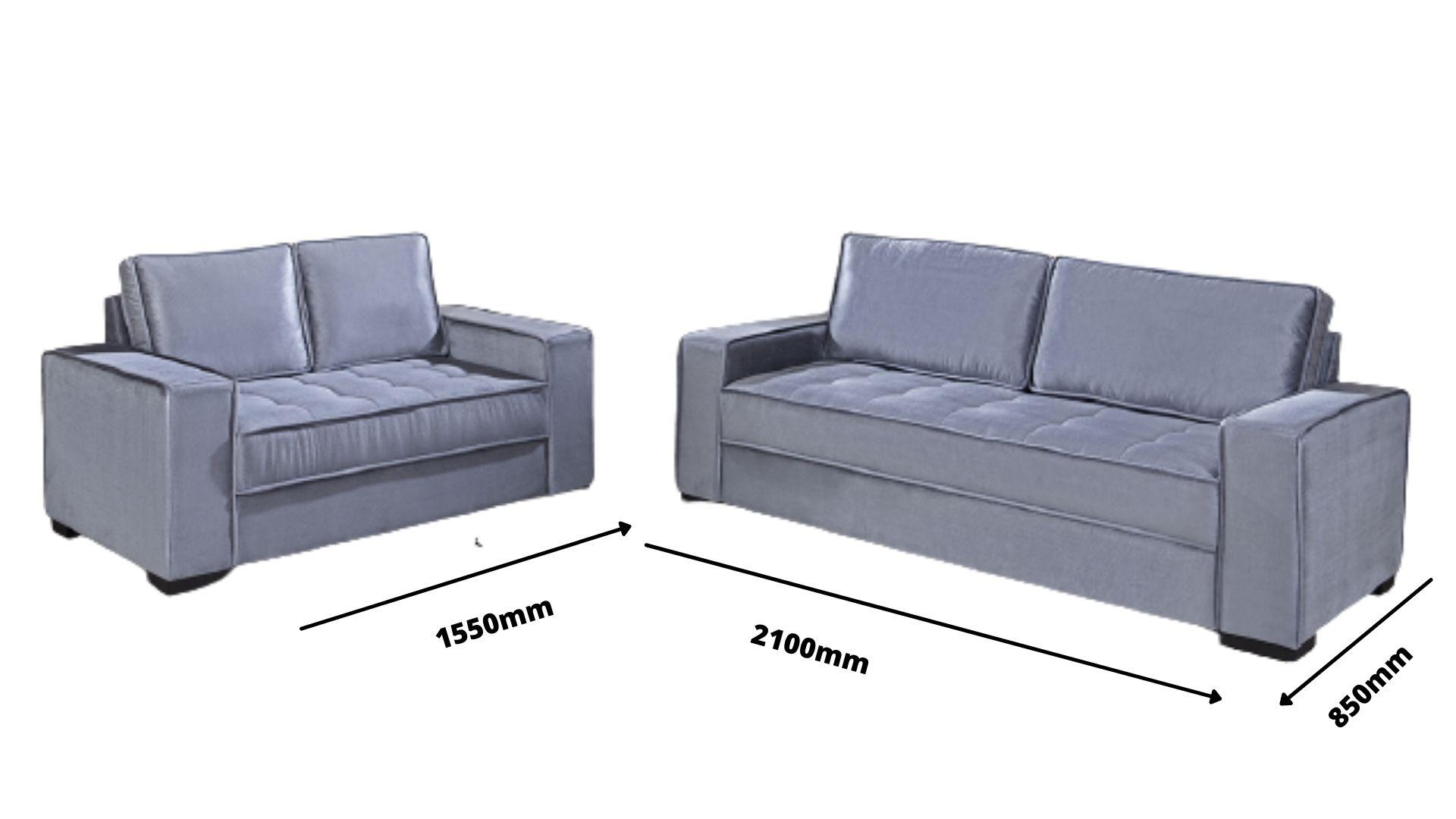 Conjunto de sofá de 2 e 3 lugares retrátil Lion