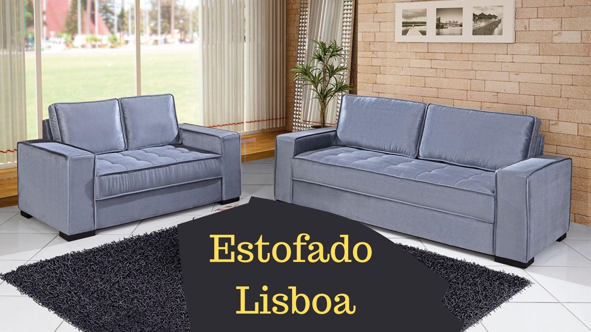 Conjunto Lisboa 2 e 3 Lugares Linho