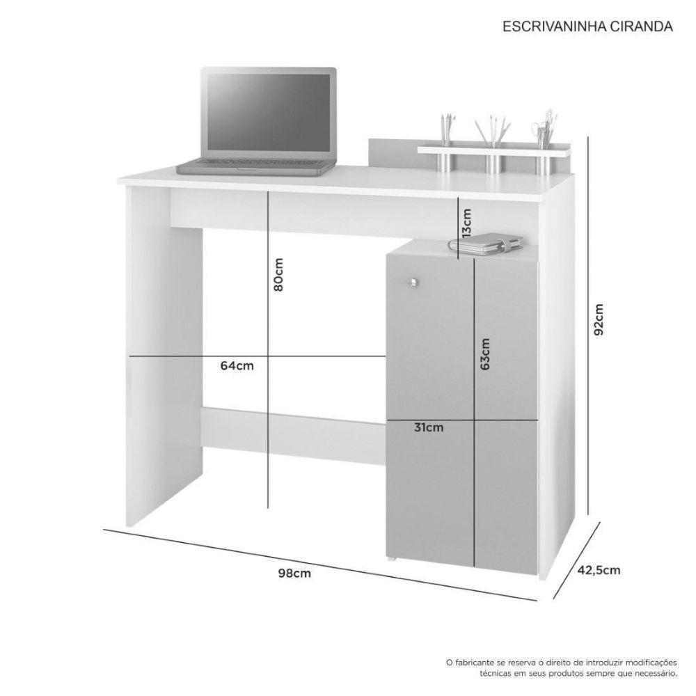 Escrivaninha Compacta com porta lápis  Ciranda