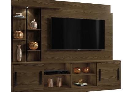 Estante Home para TV até 60 Polegadas Premium com metalon