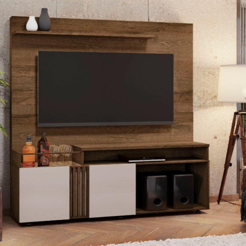 Estante Home para TV até 65 Polegadas 2 Portas 2 Nichos 1 Prateleira Love