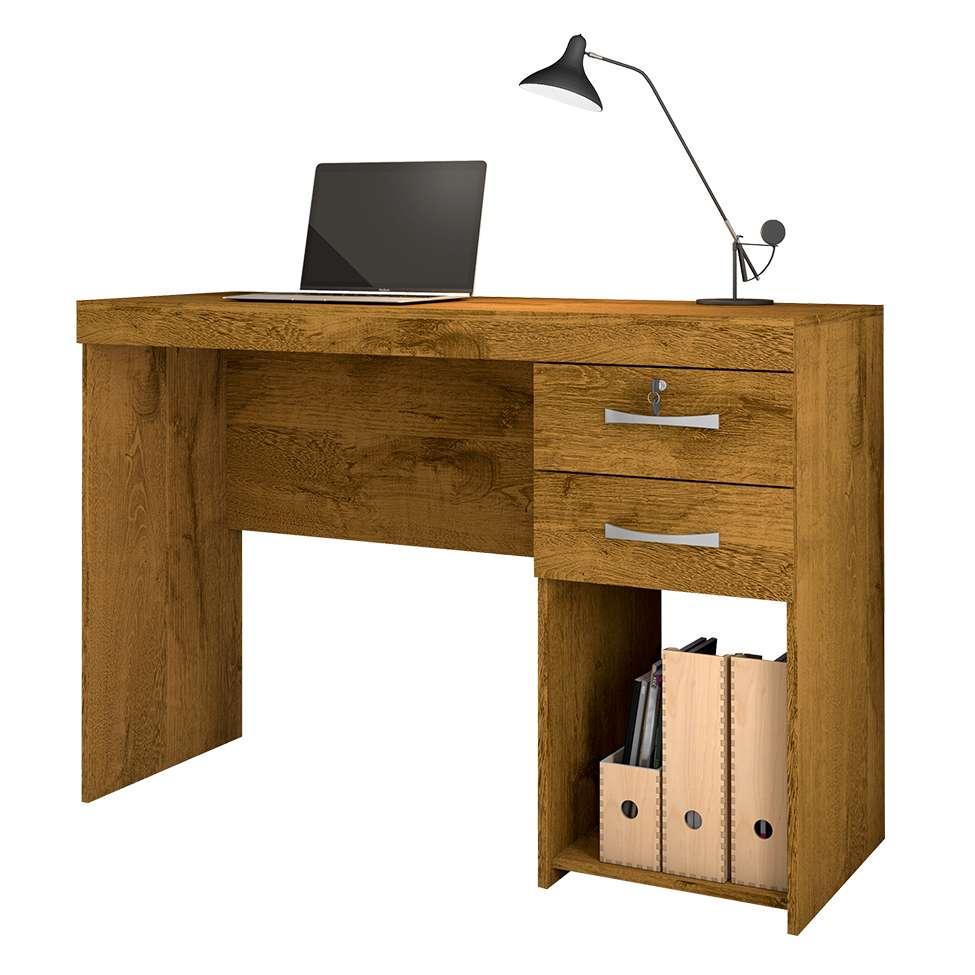 Mesa com 2 Gavetas com chave e Nicho Office Iara