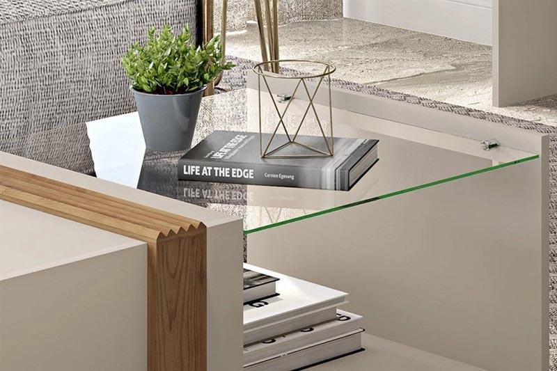 Mesa de Centro com Vidro Núbia