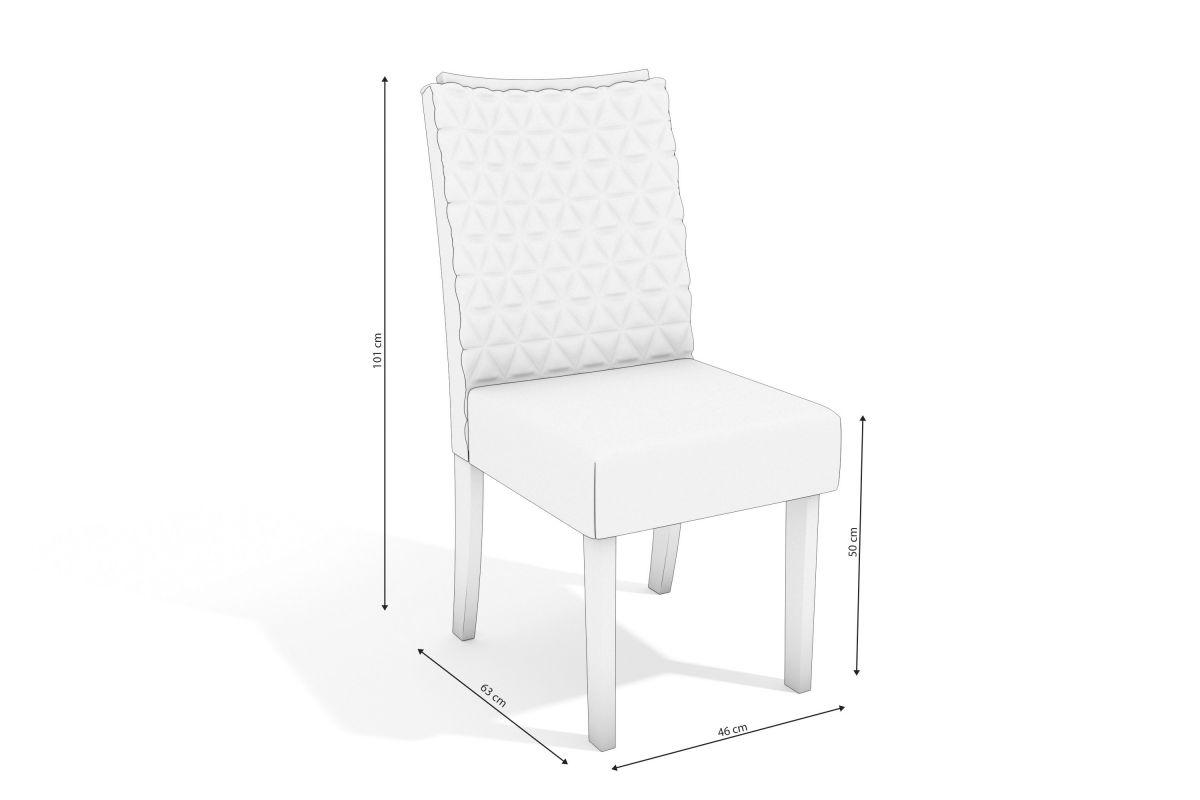 Mesa de Jantar 6 Cadeiras Moderna Jasmim