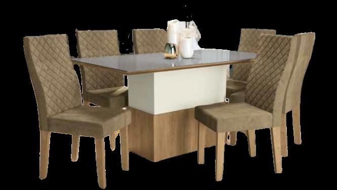 Mesa de Jantar com 6 Cadeiras Losna