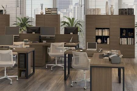 Mesa Diretor Para Escritório 150Cm Frame Carvalho Munique