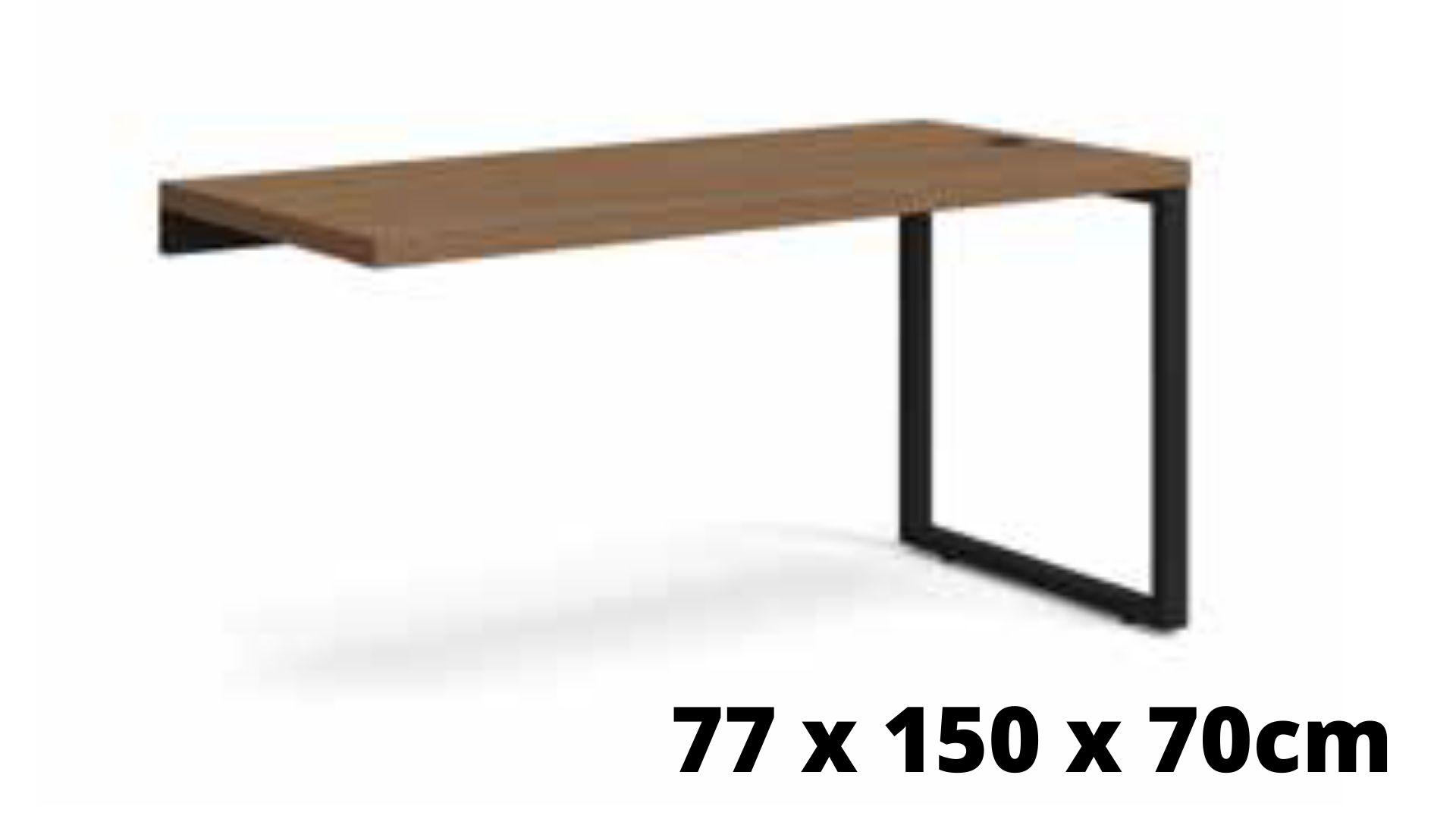 Mesa para Escritório de Apoio Diretor 150cm  Carvalho/Munique