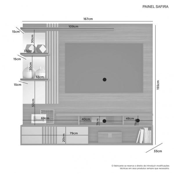 Painel para TV 49 Polegadas Safira