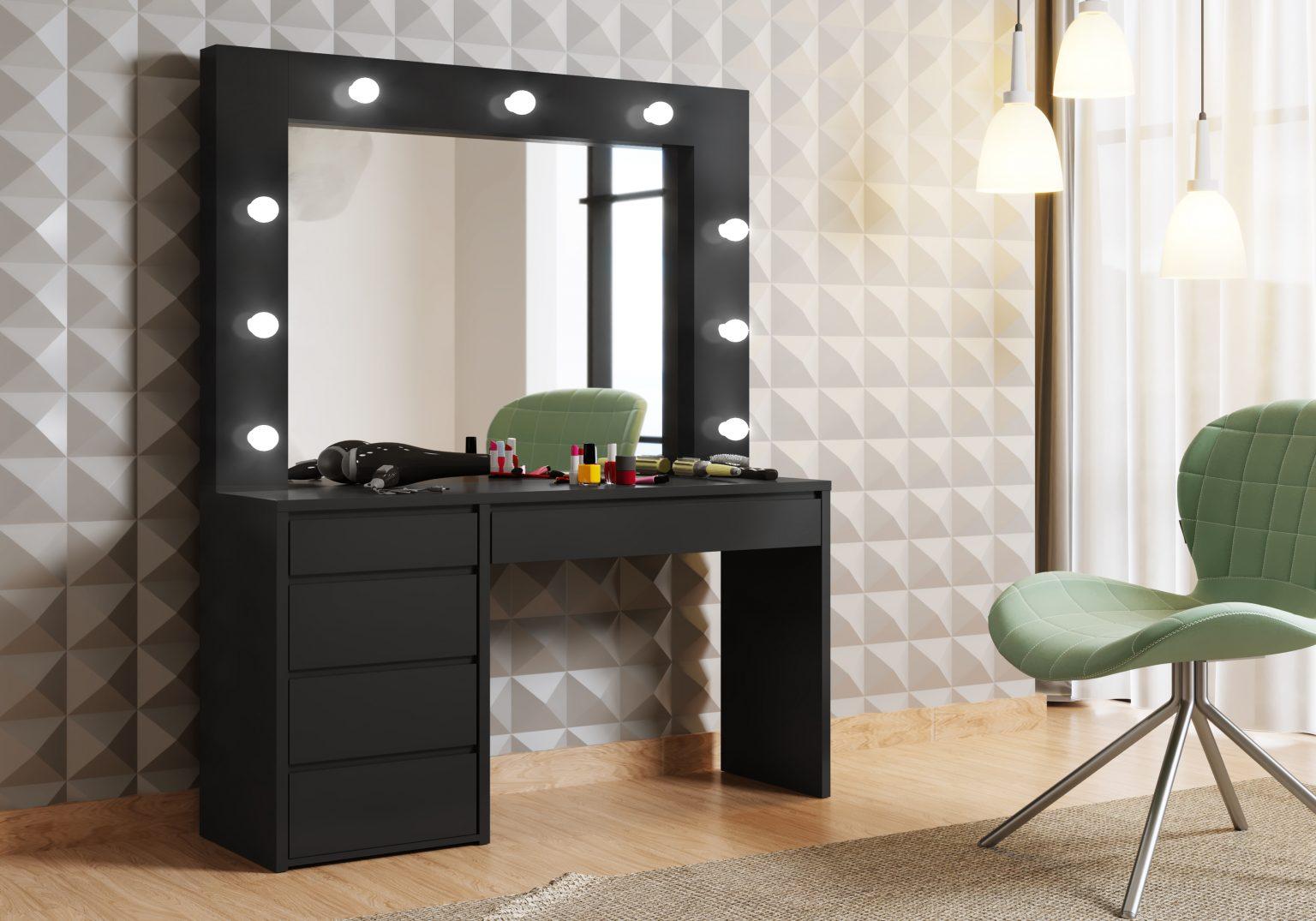 Penteadeira Camarim com Espelho 5 Gavetas Berlim New