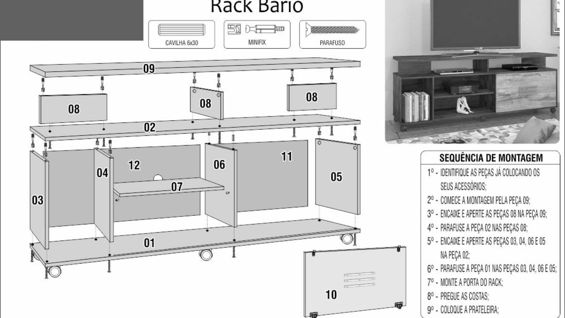Rack Bário
