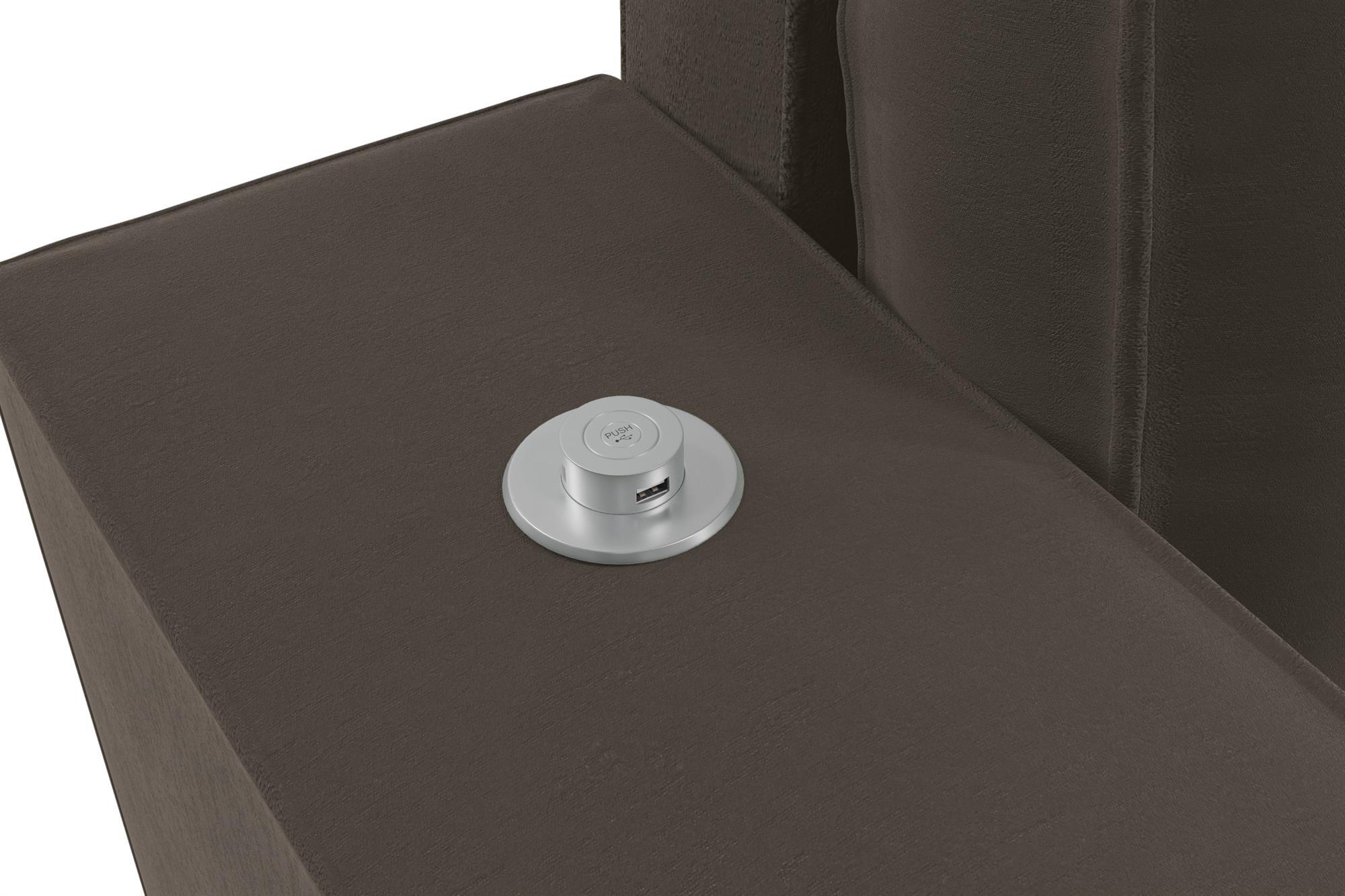 Sofá  com USB Triplo  Firenza