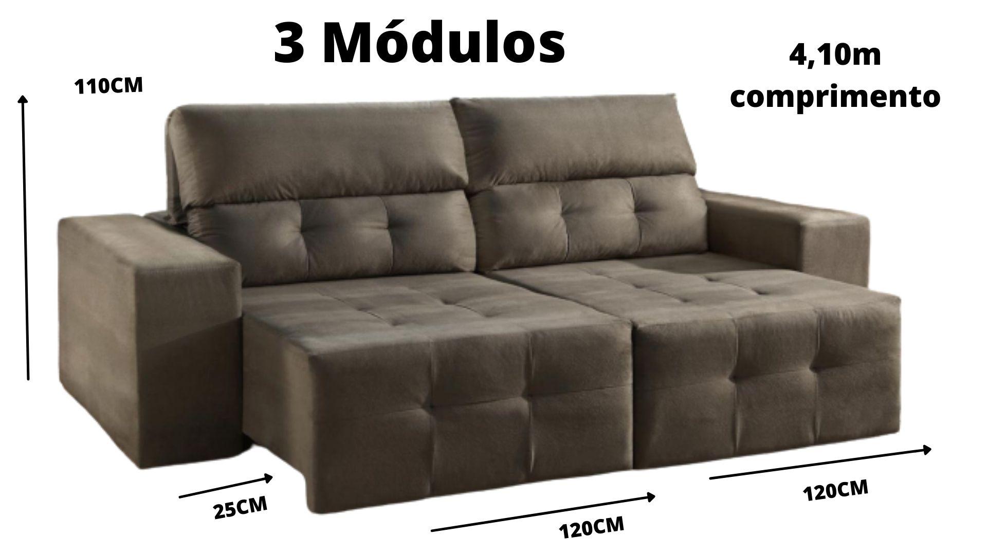 Sofá Retrátil e Reclinável 2 /3 Módulos Espanha