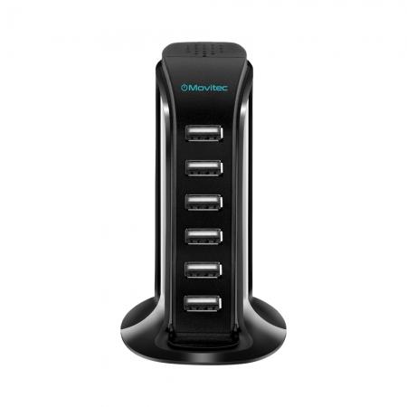 CARREGADOR HUB USB VERTICAL MOVITEC HB01