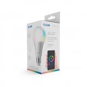 LAMPADA SMART RGB LED MODELO BULBO A60 10W BIVOLT ELGIN - 48BLEDWIFI00