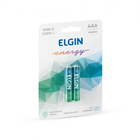 PILHA ALCALINA AAA ELGIN BLISTER C/ 2 unid