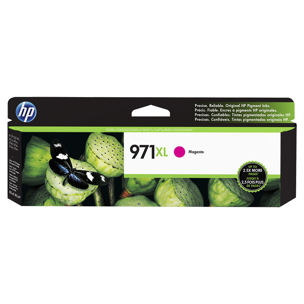 CARTUCHO MAGENTA HP 971XL - HPCN627AMI p/HP PRO X476dw, X451dw