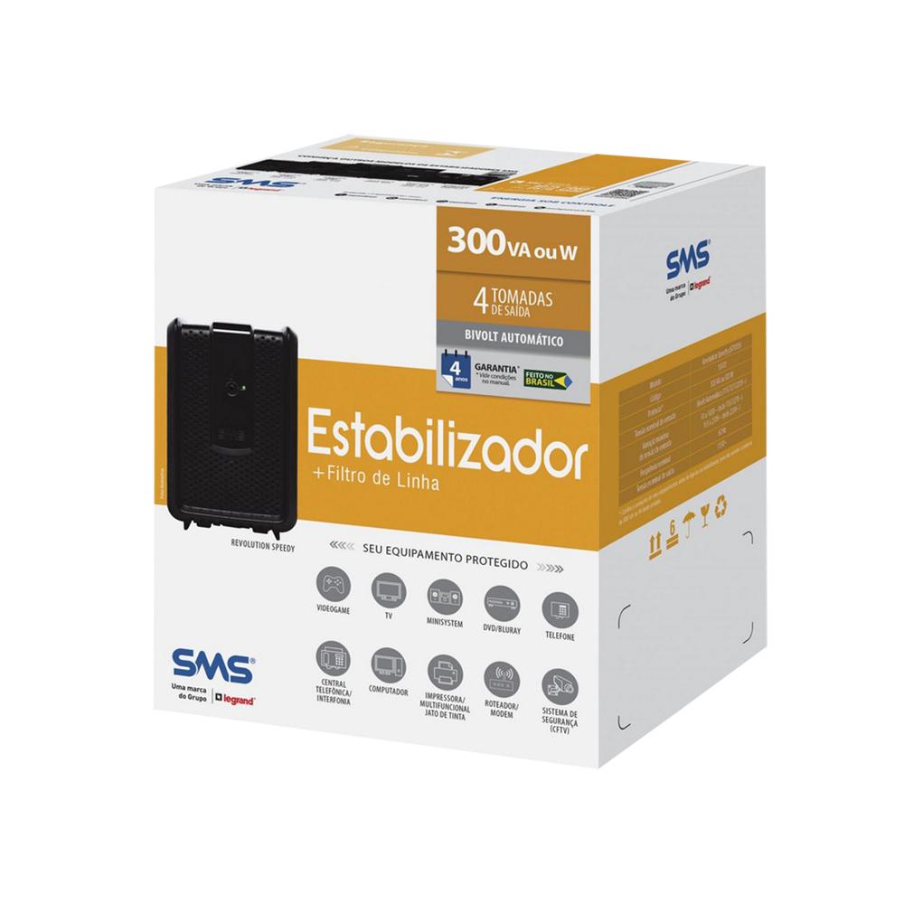 ESTABILIZADOR SMS REVOLUTION SPEEDY 300BI 4T 115V