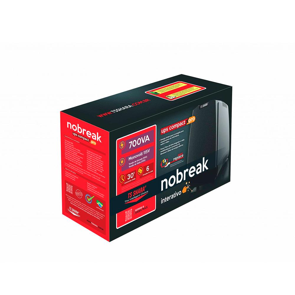 NOBREAK TS SHARA 4441 COMPACT XPRO 700VA MONO 115V 6T