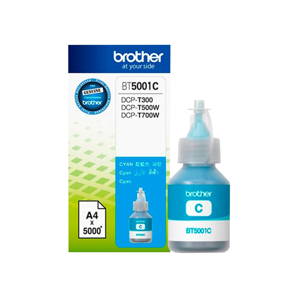REFIL DE TINTA P/ BROTHER INK BT5001 YELLOW  p BROTHER DCPT510W/DCPT710W