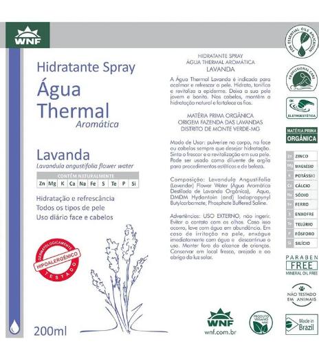 Água Thermal Lavanda WNF - 200ml