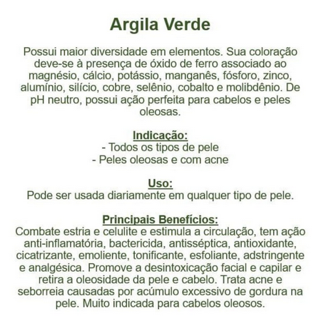 Argila Verde 100G - EcoÂmbar