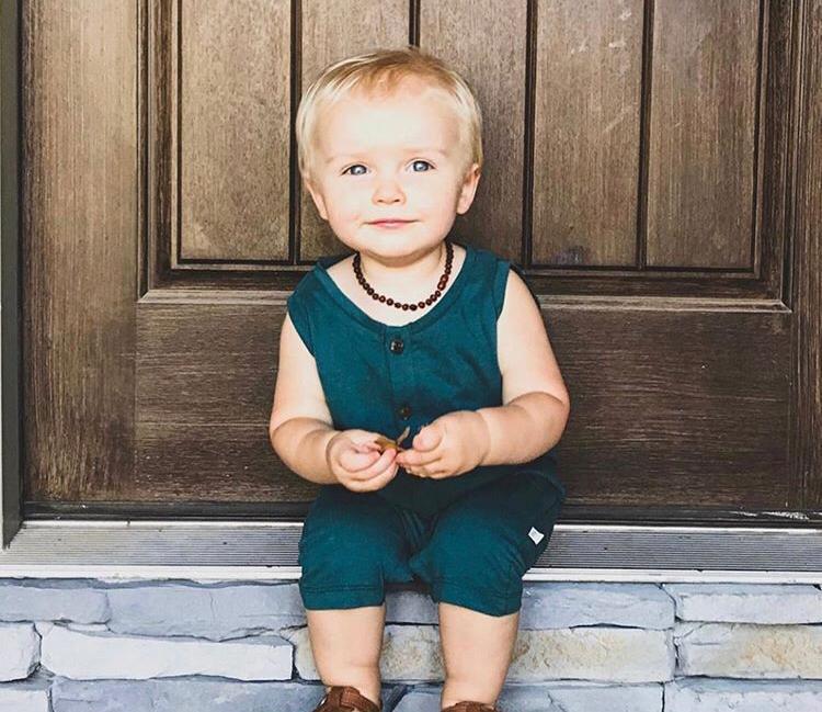 Colar de Âmbar Conhac Criança Barroco Bruto - 36 cm