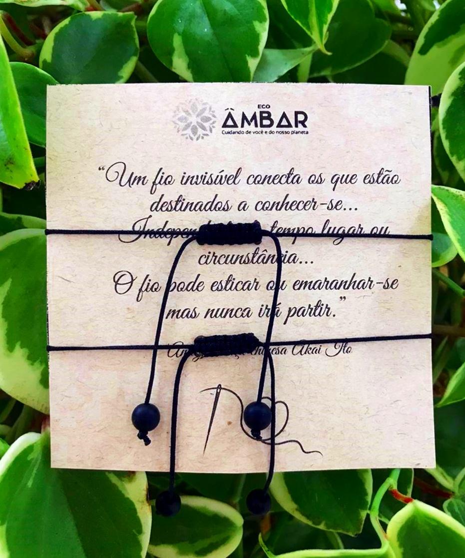 Conjunto de Pulseiras Protetoras Âmbar Mel Barroco Bruto